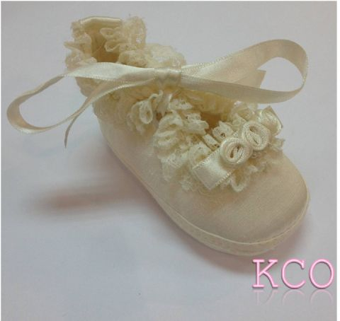 Style FJS008 Ivory~Girls Shoes
